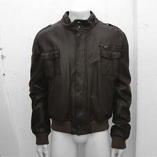 NEW Mens Dior Homme Dark Brown Leather Blouson Jacket GENUINE RRP: £1685 58 XXXL