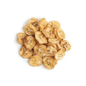 Organic DEHYDRATED BANANA COINS by NUTRICRAFT™ - chewy - no added sugar
