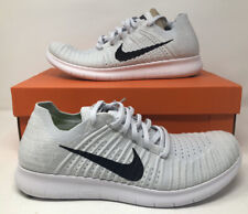 Nike Free Run RN Flyknit Running Shoes Mens White 831069-101 Size 10.5