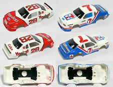 2pc 1986 TYCO Ford Thunderbird 7-11 Coke Stock Slot Car Wide BODY 8904 Unused A+