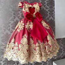 Baby Girl Princess Tutu Dress Birthday Party Flower Wedding Gown 4 5 6 Year