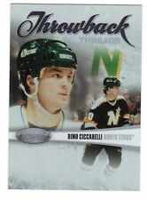 DINO CICCARELLI MINNESOTA NORTH STARS 10-11 CERTIFIED THROWBACK THREADS /500 #10