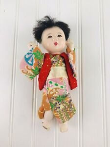 VINTAGE DOLL Made In Japan ASIAN GIRL MADE IN JAPAN Kimono