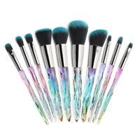 10pcs Pro Beauty Makeup Brushes Set Foundation Powder Blush Eyeshadow Brush Tool