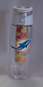 Miami Dolphins Infuser Water Bottle 20 ounce