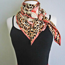 "Silk Square Scarves 100 Silk Twill Leopard Print Dress Shawls Wraps 40"" x 40"""