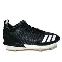 Adidas Men's Baseball/Softball Cleats Black White Gray Size 11 US SPG 753001