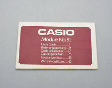 New old stock vintage CASIO module no. 51 user's manual lcd digital NOS perfect!