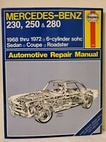 Mercedes-Benz 230 250 & 280 1968 Thru 1976 Automotive Repair Manual Book