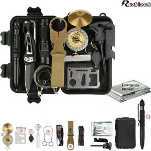 13-In-1 Outdoor Emergency Survival Kit Camping Hiking Tactical Gear Backpack