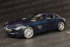 Minichamps Diecast Mercedes Benz SLS AMG 2010 Blue Metallic 1/18