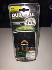 NEW! DURACELL RECHARGEABLE ION SPEED 8000 PROFESSIONAL (2 AA, 2 AAA Batteries)