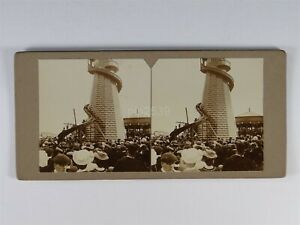 Helter Skelter In Fair At Newcastle - Stereoview c1890s