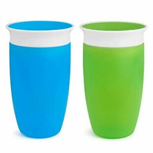Miracle 360 Sippy Cup Green/Blue 10 Oz 2 Count
