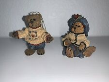 Boyds Bears 1996 Set of Two Vintage Qvc Limited Edition Bear Ornaments