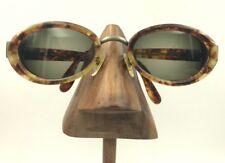 99dadfb18b Vintage Fendi FS187 Tortoise Gold Metal Oval Eyeglasses Sunglasses Frames  Italy