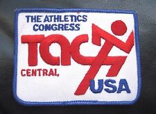 """ATHLETIC CONGRESS~CENTRAL USA EMBROIDERED SEW ON PATCH TRACK SPORTS 4"""" x 3"""""""
