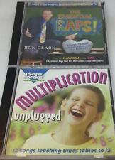 Child Educational CD lot: Multiplication Unplugged + Essential Raps Ron Clark