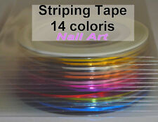 LOT 42 rouleaux striping TAPE ongle nail art déco neuf de chez Miniboutic Nails