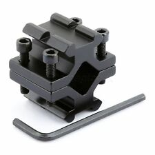 Adjustable Double Rail 20mm Picatinny Weaver Rail Barrel Mount Adapter for Scope