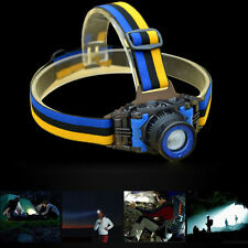 2000LM 500M CREE XPE Q5 LED Zoomable Headlamp Torch Built in Battery + Charger