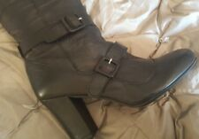 kurt geiger wilma black leather boots vivienne westwood style size 40 new