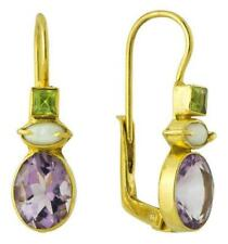 Westminster Amethyst, Pearl and Peridot Earrings: Museum of Jewelry