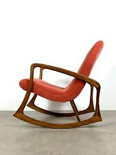 Vintage Mid Century Danish Modern Sculptural Rocking Chair Pearsall Kagan Style