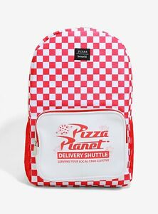 Loungefly Pizza Planet Backpack - Red & White Checkered - Disney Pixar Toy Story
