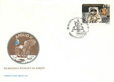 Apollo 11 20th Anniversary 7/21/89 Polish First Day Cover Patch Cachet Sc# 2910
