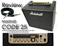 MARSHALL CODE 25 AMPLIFICATORE DIGITALE PER CHITARRA 25W +EFFETTI + USB + CAVO