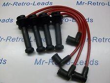 ROSSO 8MM High Performance Ignizione contatti preselezionati Si Adatta Ford Focus Zetec 1.8 Qualità HT