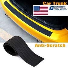 Rubber Car Rear Bumper Protector Trunk Sill Plate Guard Scratch Guard Pad Black