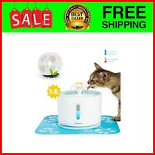 New listing Cat Water Fountain, 80oz/2.4L Water Level Window with Led Light Automatic