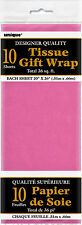 10 X hojas de papel de envoltura de papel tisú rosa caliente Cerise Rosa Brillante (día de San Valentín)