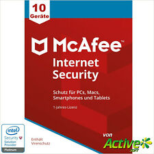 McAfee Internet Security 2021 10 Geräte | Alle Ihre Geräte /PC,Mac,Android/ 1J