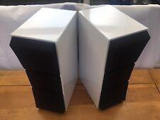 A Pair Of Bang & Olufsen B&O Beovox CX100 White Gloss Vinyl Wrap Loudspeakers