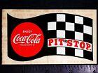 COKE Coca Cola Pit Stop - Original Vintage 60's 70s Racing Decal/Sticker NHRA