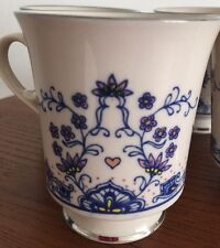 VTG 4 Elegant FRANCISCAN Masterpiece Mandalay Fine China Cups Mugs Footed EUC
