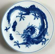 Mottahedeh BLUE DRAGON (BLUE TRIM) Dragon Salad Dessert Plate 8610069