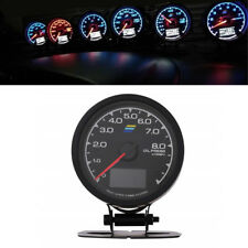 7 Color Oil Pressure Gauge Digital LED Voltage Meter Universal For 12V Car