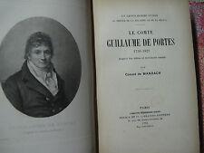le comte Guillaume de Portes 1750-1823 d'après des lettres et documents inédits