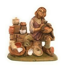 Pottery Maker Market Villager Figurine Nativity Scene Presepio Figura Pesebre