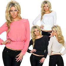 Lockre Sitzende Damenblusen,-Tops & -Shirts im Blusen-Stil ohne Muster für Freizeit