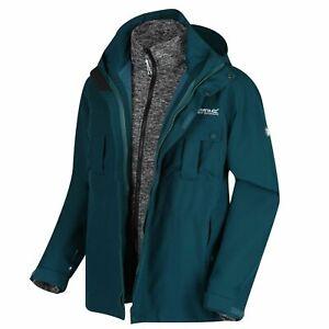 Regatta Men's Northton III 3 In 1 Jacket Isotex 10000 Full Zip Deep Teal