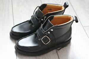 YUKETEN BLACK LEATHER CHUKKA BOOTS UK 7 (US 8, EU 41)