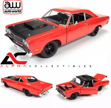 AUTOWORLD AMM1046 1:18 1969 PLYMOUTH ROAD RUNNER RED