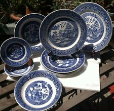 Homer Laughlin Blue Willow Pattern, 12 Pcs, What a Set