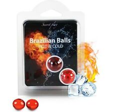 Brazilian Balls Intimate 2 BRAZILIAN BALLS HOT / COLD Erotic Lubricant. NEW