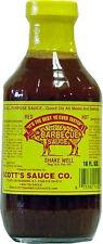 Scott's Spicy Barbecue Sauce 16 oz Sugar Free Fat Free No Carbs Carolina BBQ